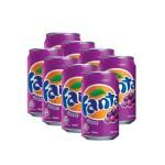 貓奴生活雜貨-芬達提子味汽水-Fanta-Grape-Flavoured-Soda-330ml-八罐裝-2109-飲品-寵物用品速遞