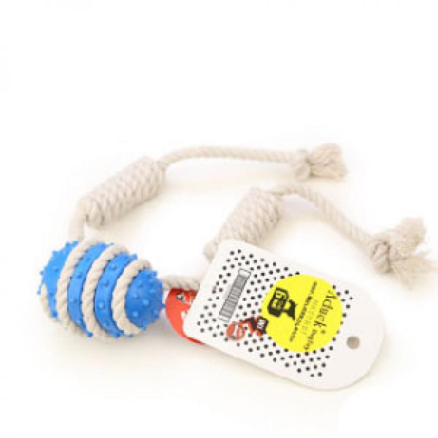 Aduck 棉繩球磨牙狗狗訓練玩具 (藍)