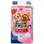 unicharm消臭大師-日本unicharm-柔軟香氛超除臭-粉紅花香味-寵物尿墊-狗尿墊-狗尿片-44x32-XL碼-84枚入-藍角-狗尿墊-寵物用品速遞